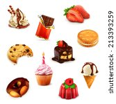 confectionery  vector set 1 | Shutterstock .eps vector #213393259