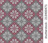 seamless knitted pattern.... | Shutterstock .eps vector #213400471