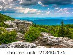Small photo of Boulders and eastern view of the Appalachian Mountains from Bear Rocks Preserve, Monongahela National Forest, West Virginia.