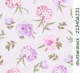 Gentle Pink Vintage Botanical...