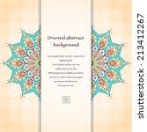 vector abstract card. oriental... | Shutterstock .eps vector #213412267