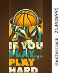 conceptual basketball poster.... | Shutterstock .eps vector #213428995