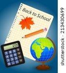 back to school  vector eps10... | Shutterstock .eps vector #213430699