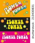 Flower Power Lettering   Three...