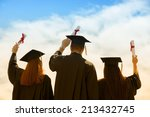 portrait of happy students in... | Shutterstock . vector #213432745