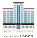 hotel design over white... | Shutterstock .eps vector #213434899