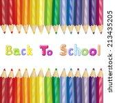 back to school poster  | Shutterstock .eps vector #213435205