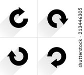 4 arrow icon refresh  rotation  ... | Shutterstock .eps vector #213446305