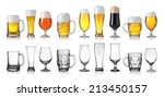 collection of empty and full... | Shutterstock . vector #213450157