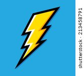 yellow electric lightning bolt... | Shutterstock .eps vector #213458791