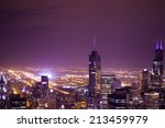 night aerial view of city... | Shutterstock . vector #213459979