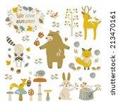 we love autumn | Shutterstock .eps vector #213470161