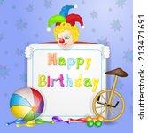 happy birthday greetings. cute... | Shutterstock .eps vector #213471691
