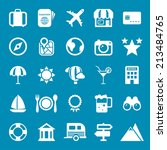 flat travel icons vector...