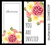 set of invitations with floral... | Shutterstock .eps vector #213485239