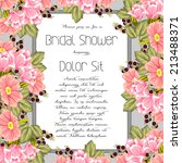 wedding invitation cards with... | Shutterstock .eps vector #213488371
