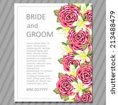 wedding invitation cards with... | Shutterstock .eps vector #213488479
