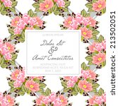 wedding invitation cards with... | Shutterstock .eps vector #213502051