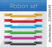 ribbon set vector illustration | Shutterstock .eps vector #213504145