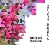 abstract triangles background... | Shutterstock .eps vector #213507481