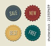 set of vector labels. | Shutterstock .eps vector #213509659