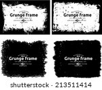 abstract grunge photo frame.... | Shutterstock .eps vector #213511414