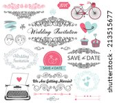 vector wedding vintage set of... | Shutterstock .eps vector #213515677