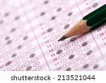 optical form of an examination... | Shutterstock . vector #213521044