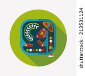 pinball flat icon with long... | Shutterstock .eps vector #213531124