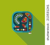 pinball flat icon with long... | Shutterstock .eps vector #213531241