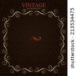 vintage background with golden  ... | Shutterstock .eps vector #213534475