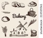 bakery set | Shutterstock .eps vector #213535561