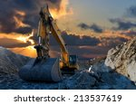 image of a tracked excavator in ... | Shutterstock . vector #213537619
