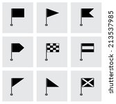 vector black flags icons set on ... | Shutterstock .eps vector #213537985