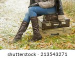 Big Travel Stylish Slim Woman...