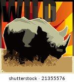 Rhinoceros. Vector illustration. - stock vector