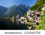 hallstatt small historical city ... | Shutterstock . vector #213562735