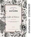 autumn harvest. vector vintage... | Shutterstock .eps vector #213563635