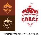 cream dessert cakes bakery logo ... | Shutterstock .eps vector #213570145