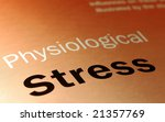 physiological stress and health-care concept - stock photo