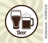 beer design over beige... | Shutterstock .eps vector #213581131