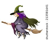 illustration of halloween witch ... | Shutterstock .eps vector #213581641