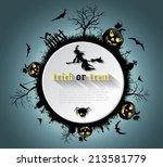 abstract halloween background ... | Shutterstock .eps vector #213581779