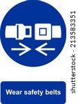 wear safety belts | Shutterstock .eps vector #213583351