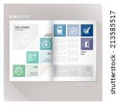 public spending layout template   Shutterstock .eps vector #213585517