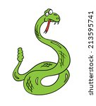cartoon snake  contour vector... | Shutterstock .eps vector #213595741
