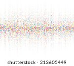 round waveform background.... | Shutterstock .eps vector #213605449