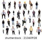 people in studio  individual... | Shutterstock . vector #21360928