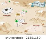 route of hajj of arabia | Shutterstock .eps vector #21361150