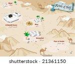 route of hajj of arabia | Shutterstock .eps vector #21361150